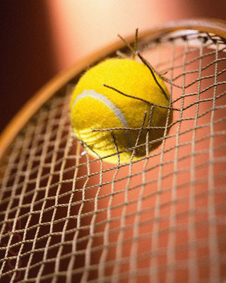 Tennis Racket Broken by Tennis Ball
