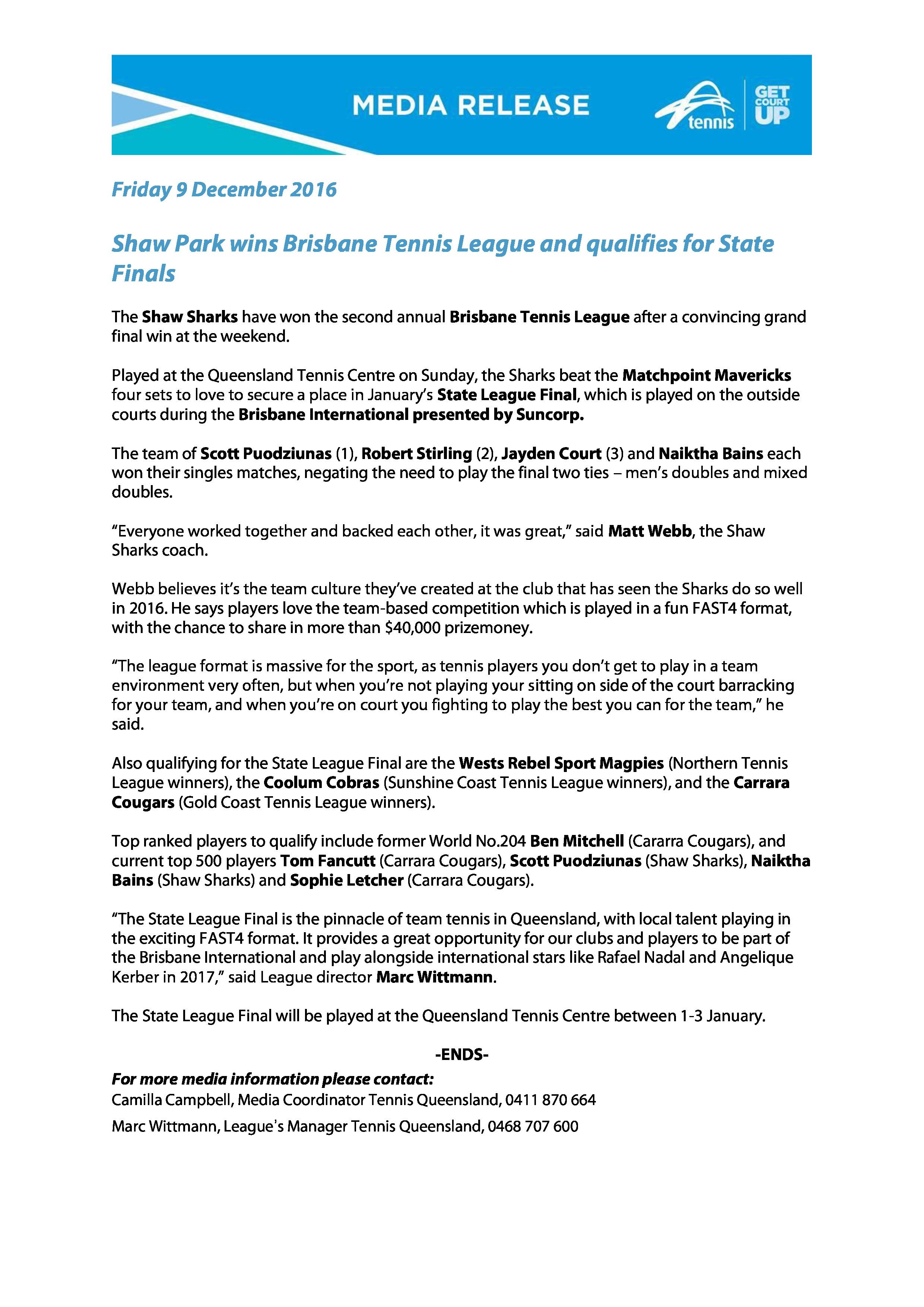 Shaw Park Sharks BTL Media Release 2016-page-0