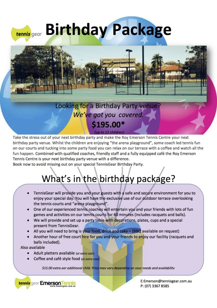 Emerson Birthday Party Package
